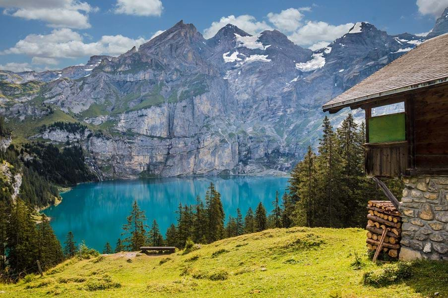 Summer holidays in the Alps