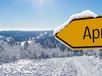 sign to apres ski