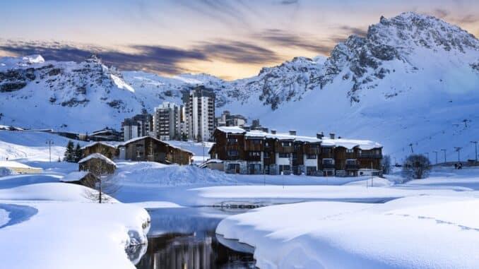 high altitude ski village