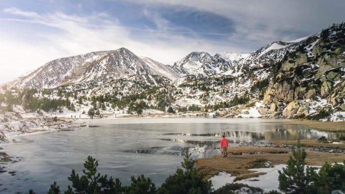 lake and mountains
