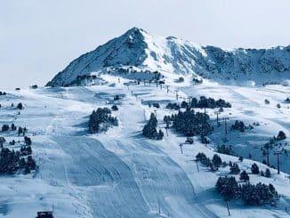 mountainous ski area