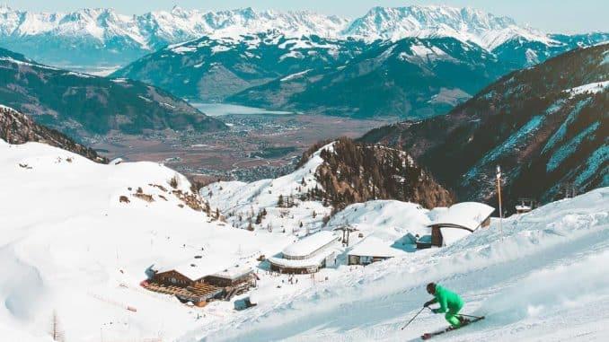 skier on mountainside