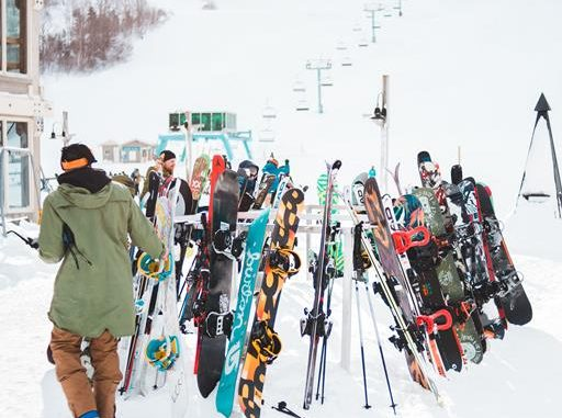 gathering of skiers