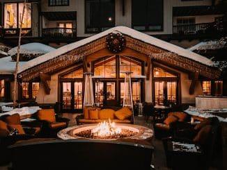 restaurant in ski resort