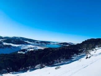 snow & blue skies