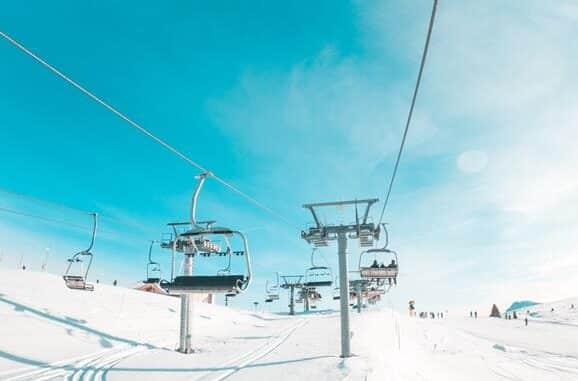Blue skies & ski lifts